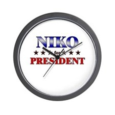 NIKO for president Wall Clock