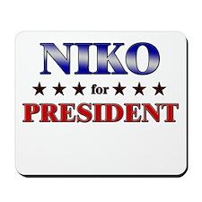 NIKO for president Mousepad