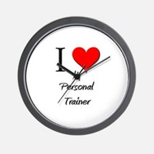 I Love My Personal Trainer Wall Clock
