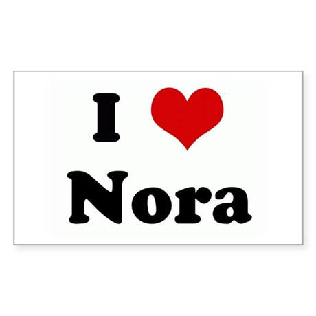 I Love Nora Rectangle Sticker