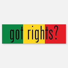 got rights? Green, Gold & Red Bumper Bumper Bumper Sticker