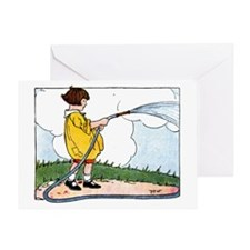 Watering Day Greeting Card
