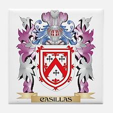 Casillas Coat of Arms (Family Crest) Tile Coaster