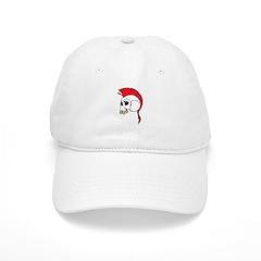 Red Mohawk Punk Skull Baseball Cap