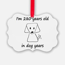 40 dog years 6 - 2 Ornament