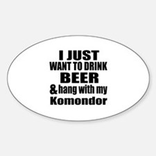 Hang With My Komondor Sticker (Oval)