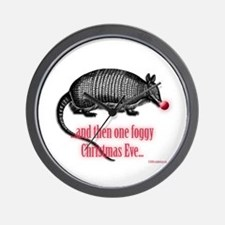red nosed armadillo Wall Clock