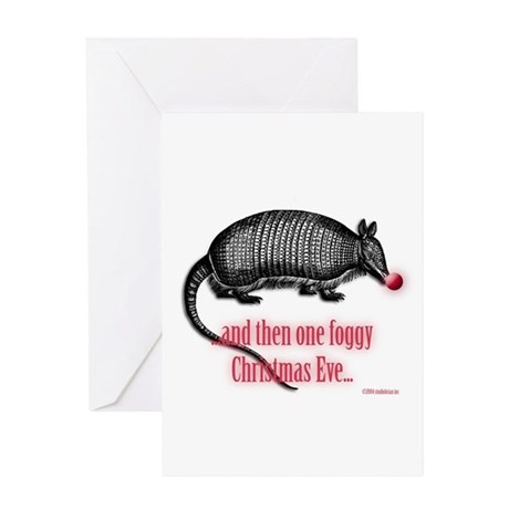 red nosed armadillo Greeting Card