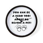 Dog Hero Wall Clock