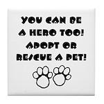 Dog Hero Tile Coaster