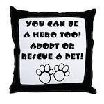 Dog Hero Throw Pillow