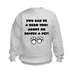 Dog Hero Kids Sweatshirt