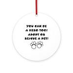 Dog Hero Ornament (Round)
