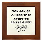 Dog Hero Framed Tile