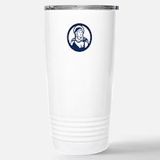 Blessed Virgin Mary Circle Retro Travel Mug
