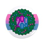 "Bi Wreath 3.5"" Button (100 pack)"