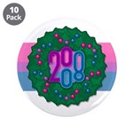 "Bi Wreath 3.5"" Button (10 pack)"