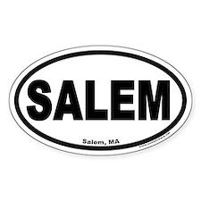 Salem, MA Oval Euro Style Decal