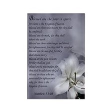 Beatitudes Rectangle Magnet