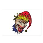 Laughing Evil Grin Clown Postcards (Package of 8)