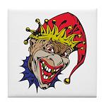 Laughing Evil Grin Clown Tile Coaster