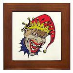 Laughing Evil Grin Clown Framed Tile