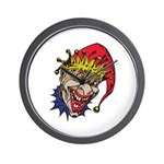 Laughing Evil Grin Clown Wall Clock
