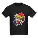 Laughing Evil Grin Clown Kids Dark T-Shirt