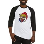 Laughing Evil Grin Clown Baseball Jersey