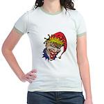 Laughing Evil Grin Clown Jr. Ringer T-Shirt