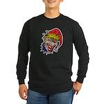 Laughing Evil Grin Clown Long Sleeve Dark T-Shirt