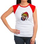 Laughing Evil Grin Clown Women's Cap Sleeve T-Shir