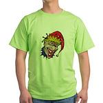 Laughing Evil Grin Clown Green T-Shirt