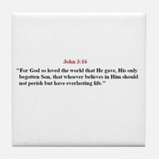 Scripture from the Bible, say Tile Coaster