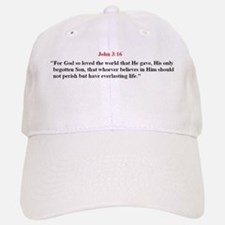 Scripture from the Bible, say Baseball Baseball Cap