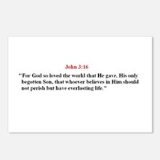 Scripture from the Bible, say Postcards (Package o