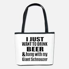 Hang With My Giant Schnauzer Bucket Bag