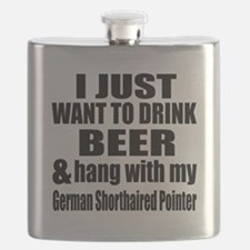 Hang With My German Shorthaired Pointer Flask