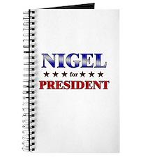 NIGEL for president Journal