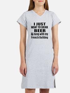Hang With My French Bulldog Women's Nightshirt