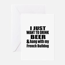 Hang With My French Bull Greeting Cards (Pk of 20)