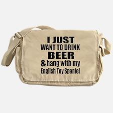 Hang With My English Toy Spaniel Messenger Bag