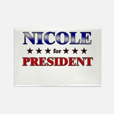 NICOLE for president Rectangle Magnet