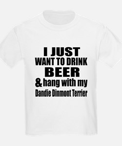 Hang With My Dandie Dinmont Ter T-Shirt