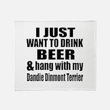 Hang With My Dandie Dinmont Terrier Throw Blanket