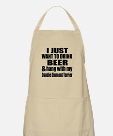 Hang With My Dandie Dinmont Terrier Apron