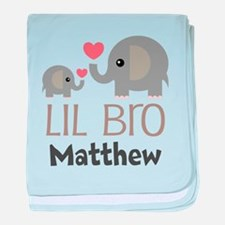 Lil Bro Personalized Brother baby blanket