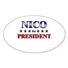 NICO for president Oval Decal