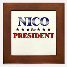 NICO for president Framed Tile