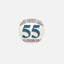 45 birthday design Mini Button